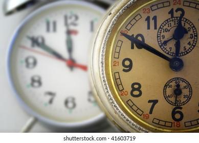 Two clocks.