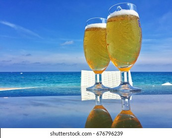 Two cold beers on the beach