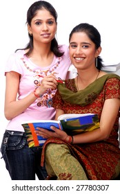 two college students sitting together