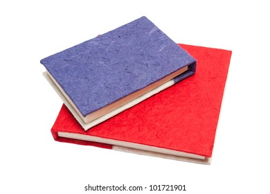 two color handmade paper book
