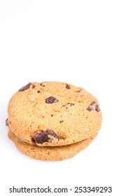 two cookies on white background isolated