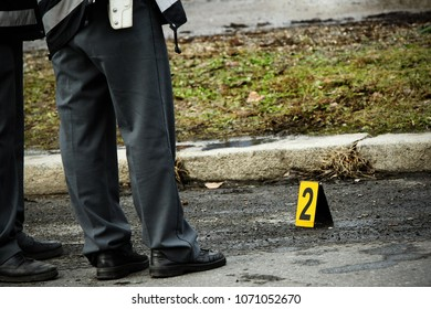 Two cops at the crime scene