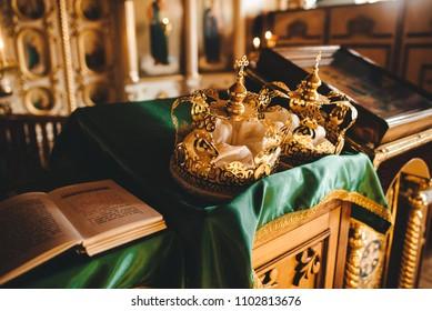 Two crowns orthodox wedding