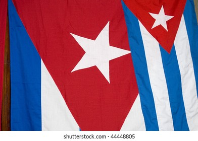 Two Cuba Flags Detail - Patriotic Background