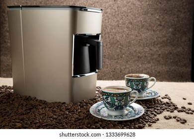 Two Cups of Traditional Turkish Coffee
