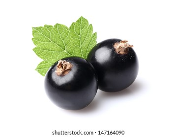 Two currants with leaf