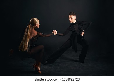 Two dancers, the European program, ballroom dancing. Sports, fitness, health, beauty