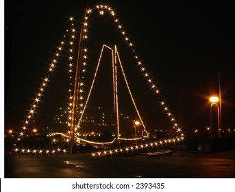 Two decorated Sailing-boats