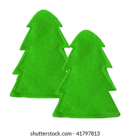 two decoration green spruce