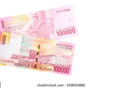 two design of 100000 Indonesian rupiah banknote