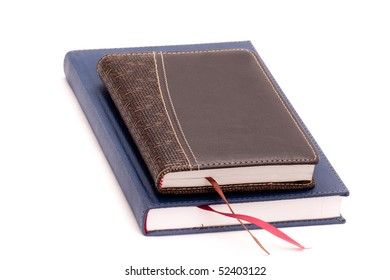 Two diary on white background