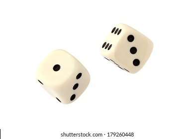 Two dices isolated on white