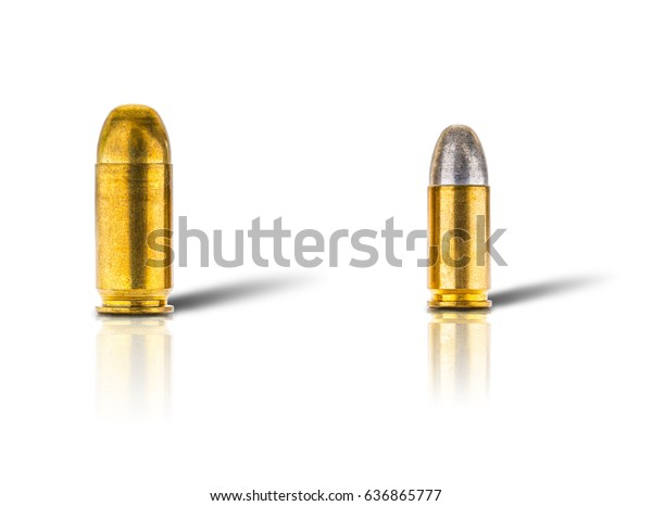 Two Diffirent Size Bullets 9mm 11mm Stock Photo (Edit Now) 636865777
