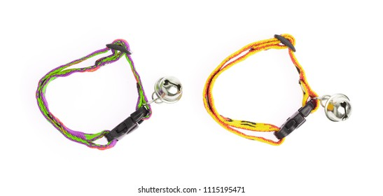 two dog collar isolated over white background