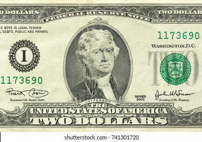 Two Dollar With One Note. 2 Dollars.