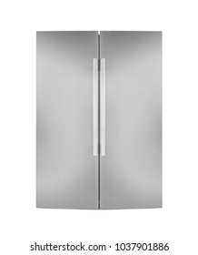 Two door refrigirator isolated on white background