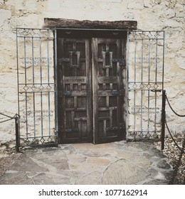 Two Doors With Metal Grate