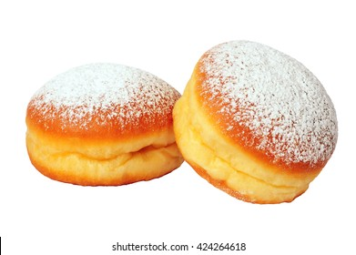 two doughnuts isolated over white background