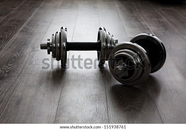 two dumbbells for fitness