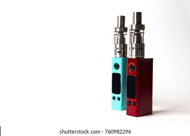two e-cigarette (electronic cigarette, vape) isolated on the white background