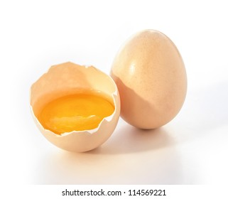 two eggs with clipping path