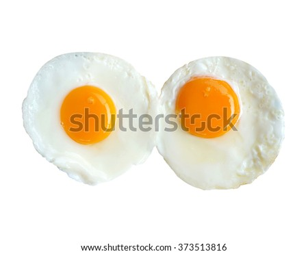 Two Eggs Sunny Side Up Isolate...