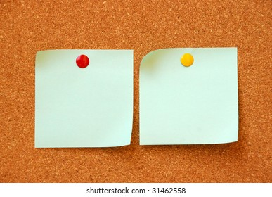 two empty note pads