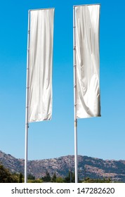 Two empty vertical banners. Blank space for write at your own