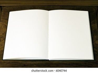 Two empty white pages in book or notepad