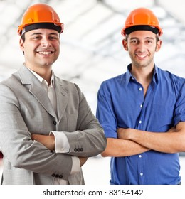 Two engineers portrait
