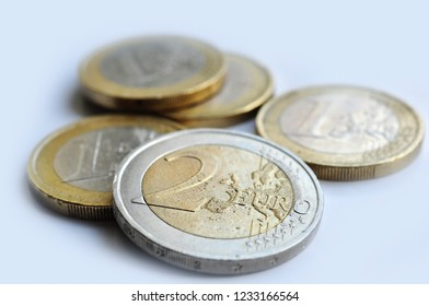two eur coins european currency fee