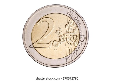 two euro coin free cutted
