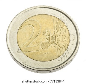 two euro coin isolated on a white background