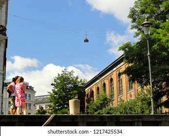 Two Female Tourists in Copenhagen, Denmark