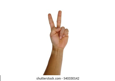 The two fingers symbol