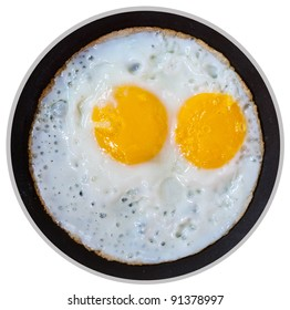 Two of fire eggs in  the Pan