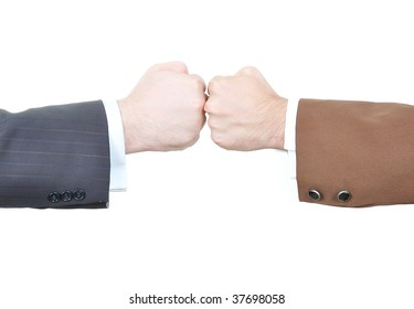 Two fists against each other