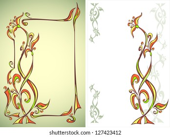Two Frames with floral ornament
