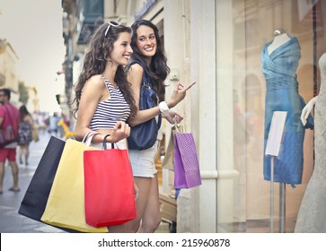 Two friends going shopping