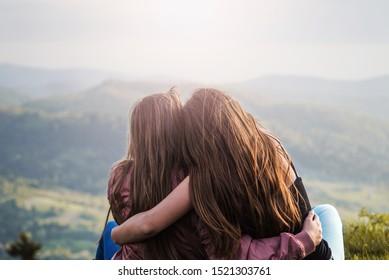 Sisters Hugging Images, Stock Photos & Vectors | Shutterstock