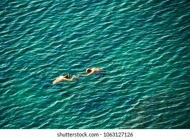 two funny snorkelers