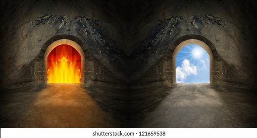 Heaven And Hell Images Stock Photos Amp Vectors Shutterstock