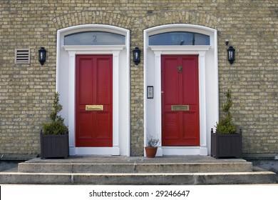 Two Georgian Doors, Dublin Ireland.