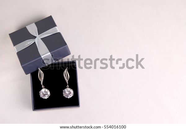 Two Gift Boxes Jewelry On White Stock Photo Edit Now 554016100