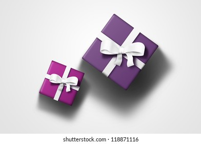 Two gift boxes seen from the top