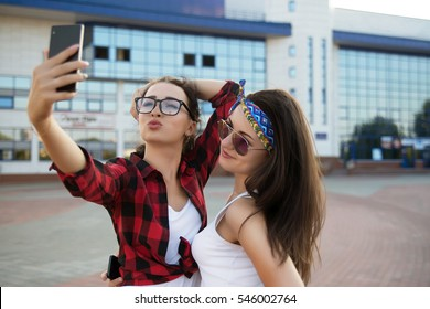 Two girls are best-friends and having fun