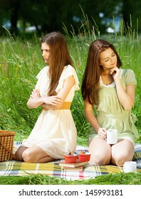 Two girls and conflict on a nice summer day