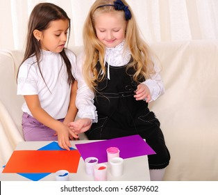 Two girls friends spend time together