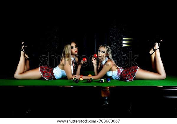 Lesbians Double Dildo Strapon