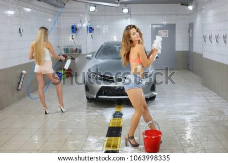 Vier Mädchen Autowasch Video, Video mit den besten Sexszenen